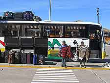 Photo showing arriving bus