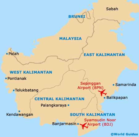 Small Kalimantan Map