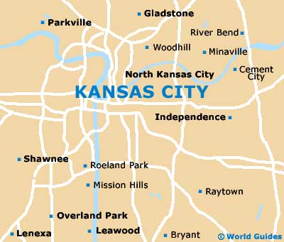 Kansas City Maps And Orientation Kansas City Missouri MO USA - Missouri on a us map