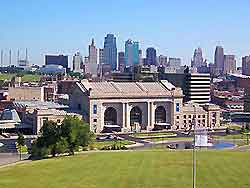 View of Kansas City showing Union Station