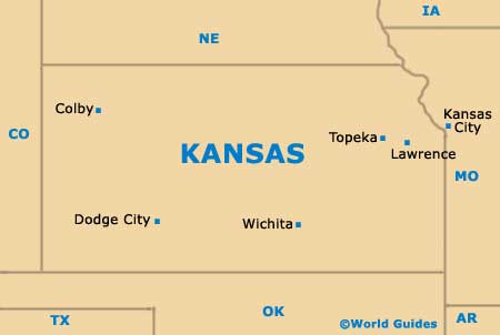 Kansas KS State map