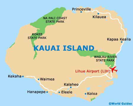Kauai Maps and Orientation Kauai Hawaii HI USA