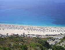 Aerial view of Myrtos coastline