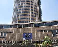 Close-up image of Nairobi's Hilton Hotel