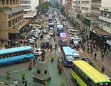 Picture of cars on Kimathi Street in Nairobi