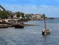 Shoreline view of Lamu
