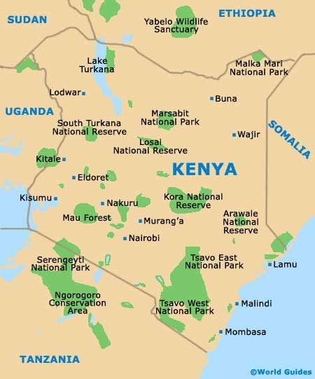 Small Kenya Map