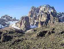 Panoramic view of Mount Kenya
