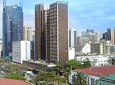 Further photo showing high-rise buildings in Nairobi