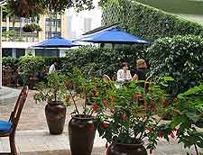 Photo showing the al fresco dining at Nairobi's Hilton Hotel