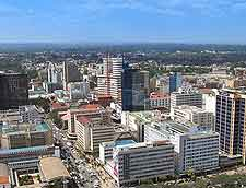 Distant skyline picture of Nairobi