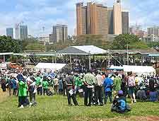 Picture of festival crowds gathered at Nairobi's Uhuru Park