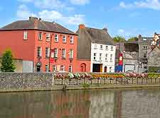 Photograph of buildings lining the River Nore