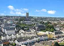 Cityscape photo taken from the Round Tower of St. Canice's Cathedral