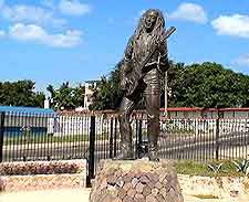 Photo of iconic Bob Marley statue in the city
