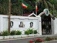 Entrance view at the Bob Marley Museum