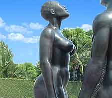 Further picture of the Redemption Song statues standing in Emancipation Park