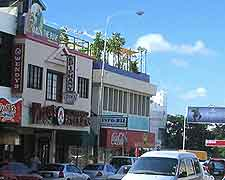 Photo of local shops and traffic