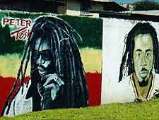 Trench Town photo of Bob Marley murals