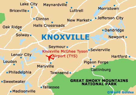 Map of knoxville tn knoxville tennessee hotels html for Small towns in tennessee near knoxville