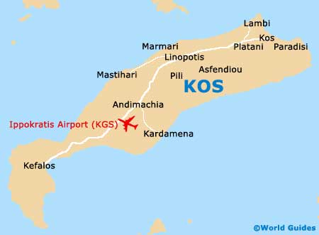 Kos Maps and Orientation Kos Dodecanese Greece