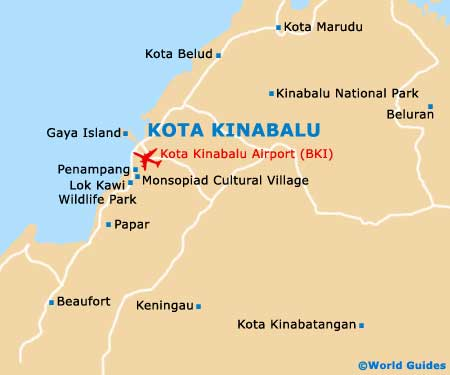 Small Kota Kinabalu Map