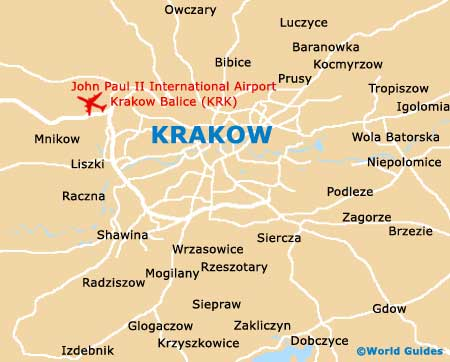 Tourist Map Krakow Small Krakow Map