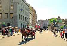 Photo showing horse and carriage ride in the city centre
