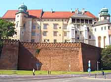 Close-up picture of the Royal Castle, in the Wawel district