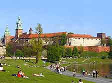 Photo showing the Wawel district