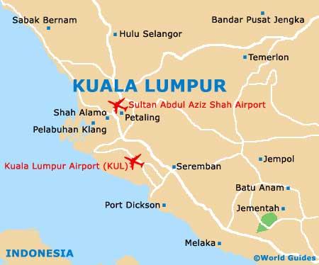 Kuala Lumpur Maps And Orientation Kuala Lumpur Federal Territory - kuala lumpur map