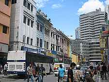 Further view of the city centre shoppers