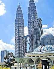 Scene showing the Petronas Twin Towers