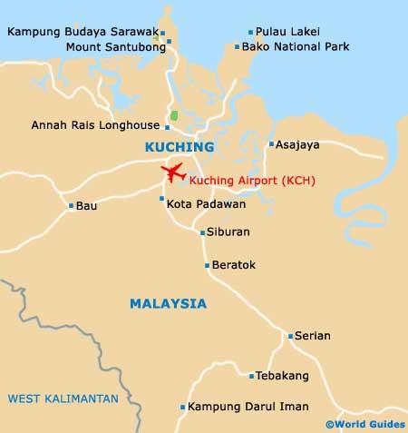 Small Kuching Map
