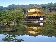 Picture showing Kyoto's Kinkakuji (Golden Pavilion)