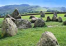 Close-up picture of the Castlerigg Stone Circle