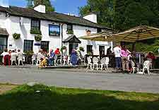 Photo of local public house and patio tables
