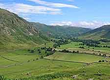 Summer view of Langdale