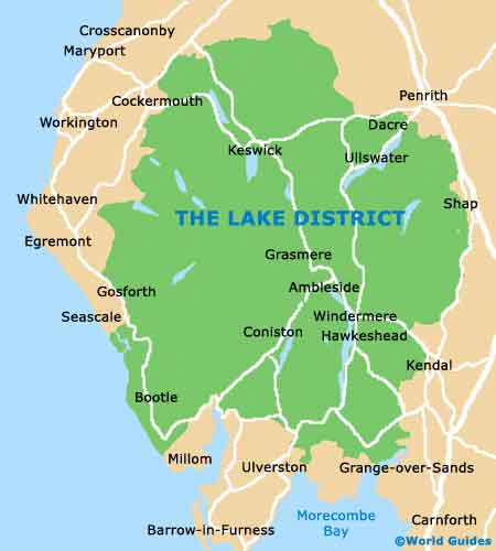 lake district in uk map Lake District Maps And Orientation Lake District Cumbria England lake district in uk map