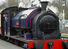 Image of steam train in Windermere, heading to Haverthwaite Station