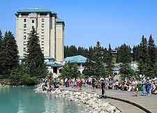 Waterfront picture, showing the Fairmont Hotel