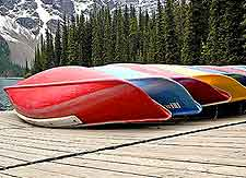 Further image of the Lake Moraine kayaks