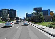 Picture of main road on the Nevada site