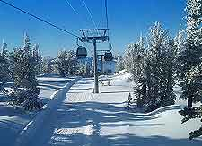 Winter ski-lift photo, taken at a nearby mountain resort
