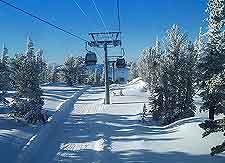 Winter ski-lift photo, taken at a nearby mountain resort