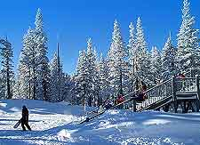 Winter picture taken at the Heavenly Ski resort