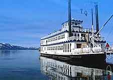 Photograph showing the restored Tahoe Queen cruise boat