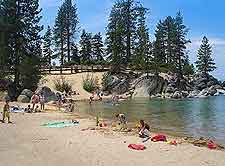Picture of the beachfront at Sand Harbor