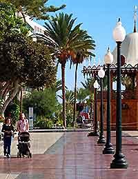 Photo of the shopping area of Arrecife, Lanzarote