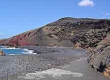 Photograph of the Coastline around Lanzarote's El Golfo